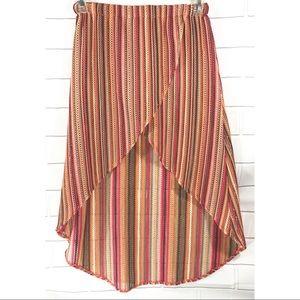 Anthropology Judith March Crochet High Low Skirt